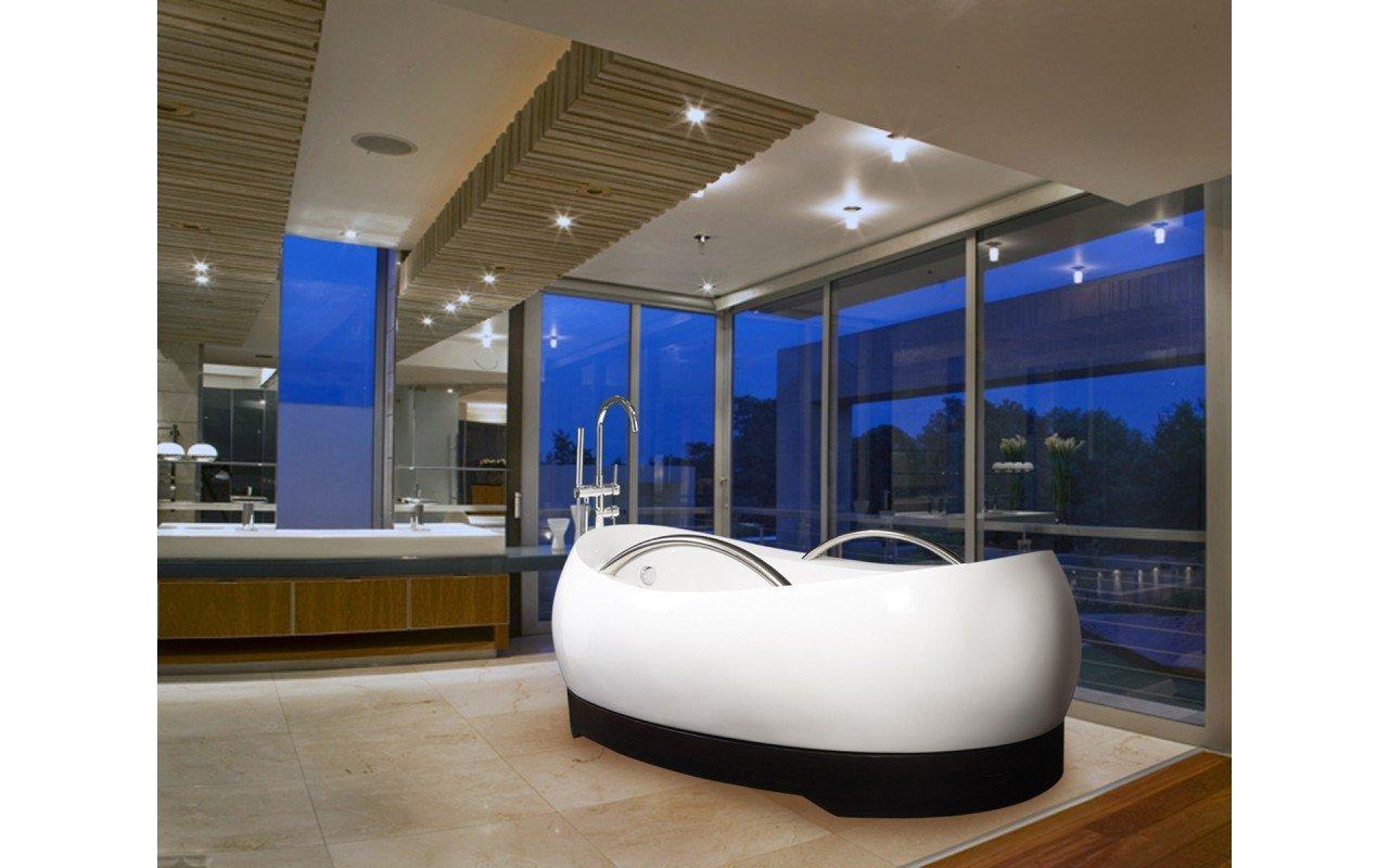 Aquatica AdmireMe-Wht Freestanding Light Weight Stone Bathtub