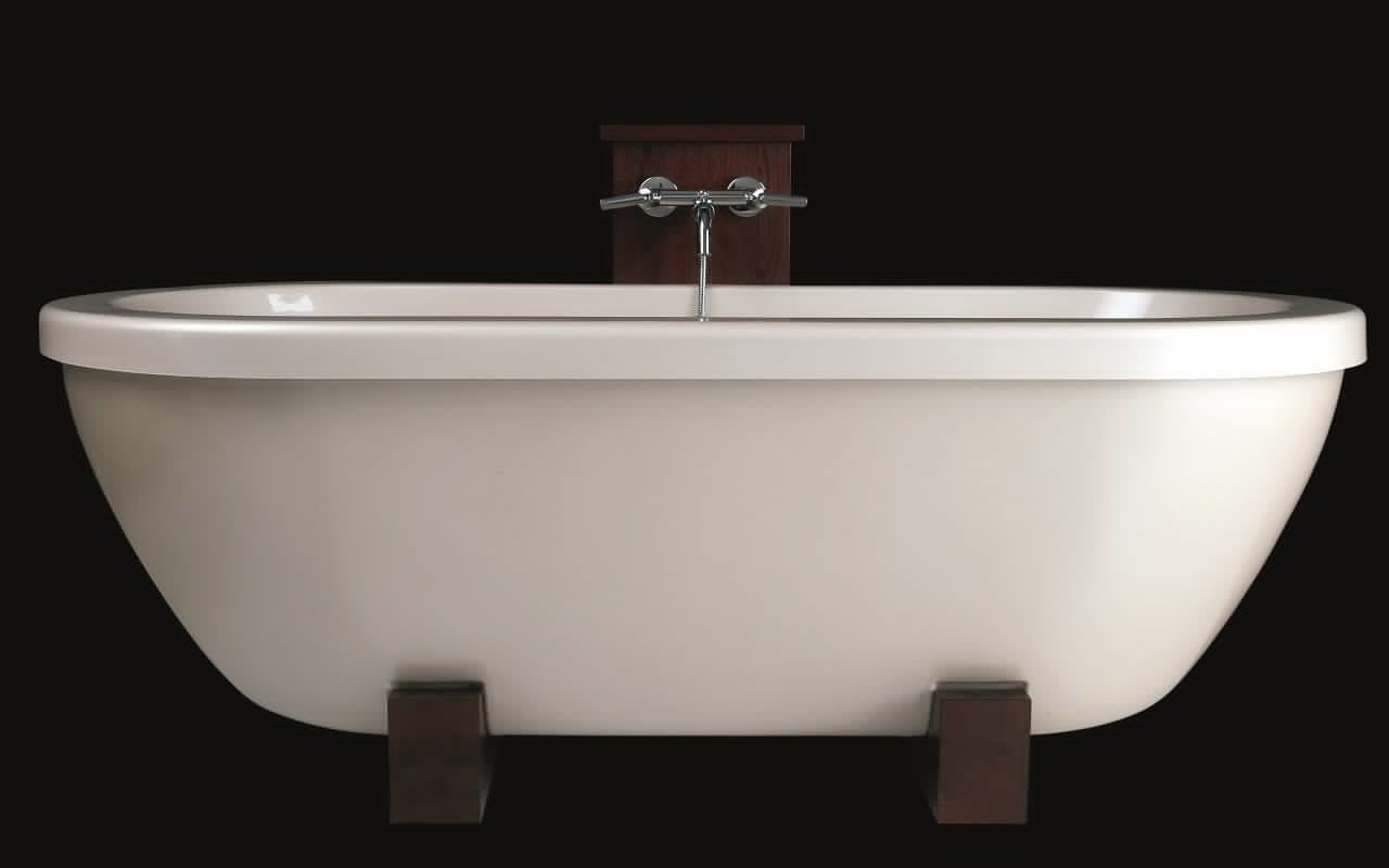 AdoreMe Wht Freestanding Light Weight Stone​ Bathtub by Aquatica web 2