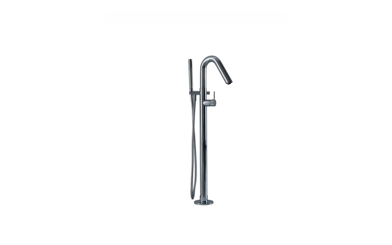 Aquatica Colonna WS Faucet – Floor Mounted Tub Filler – Chrome web