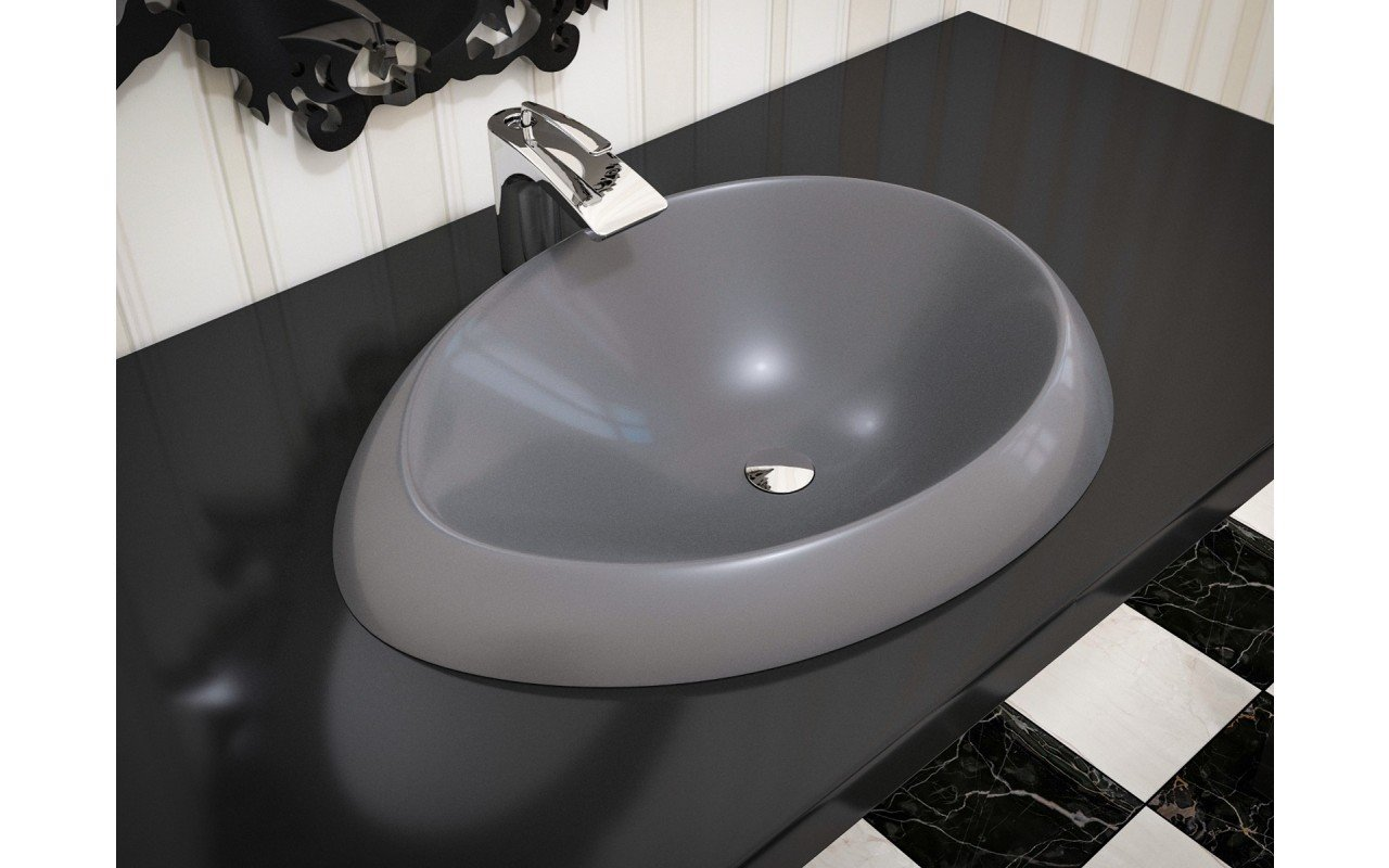 Aquatica Organic Sink Coffee EcoMarmor Washbasin 3D Web (1)