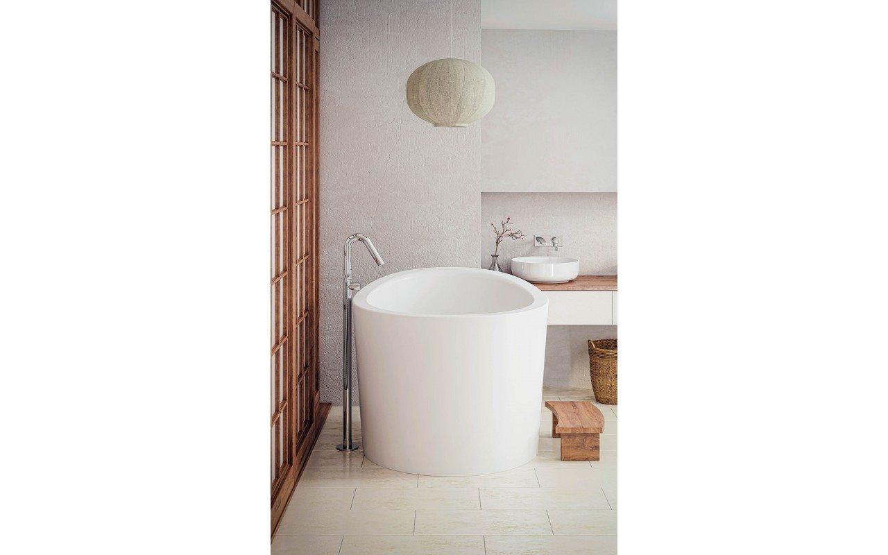 Aquatica True Ofuro Mini Freestanding Stone Japanese Soaking Bathtub web (2)