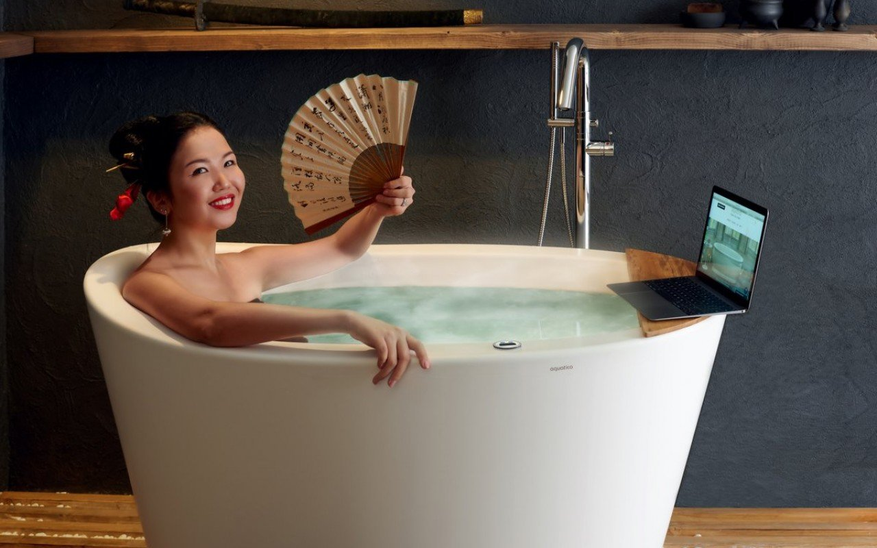 Aquatica True Ofuro Tranquility Heated Japanese Bathtub US version 110V 60Hz 02 (web)