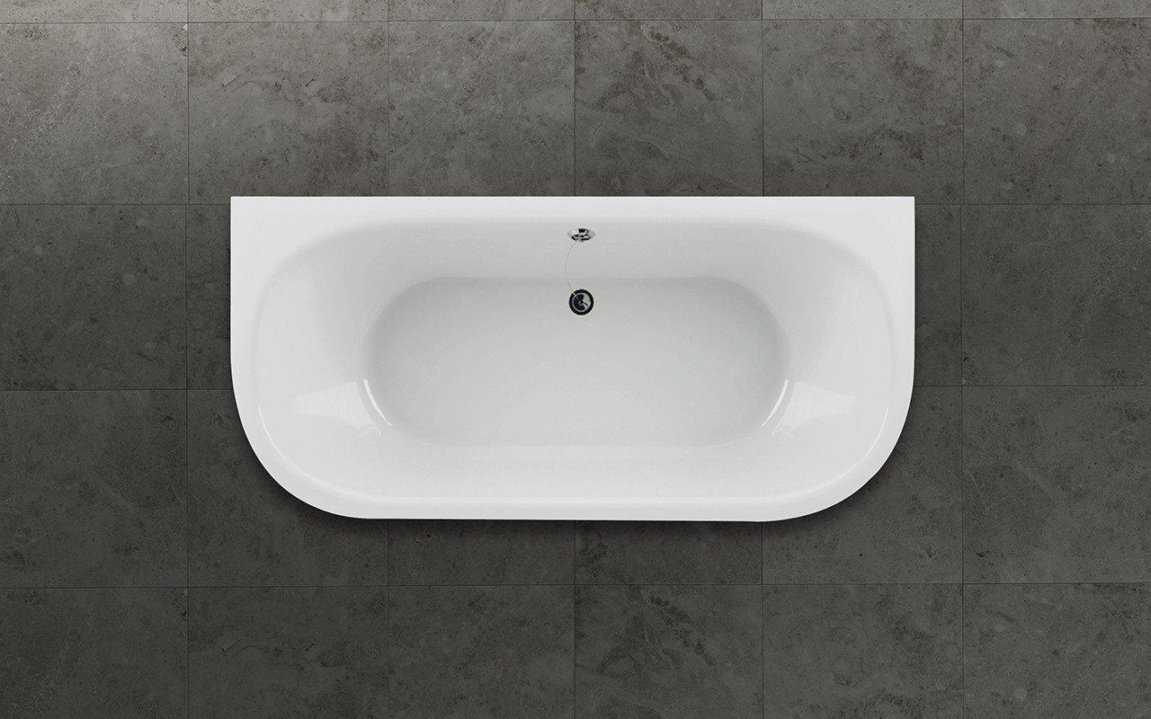 Aquatica inflection b wall wht corner stone bathtub top web
