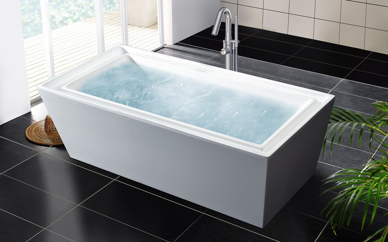 Aquatica purescape 040 freestanding acrylic bathtub for Best acrylic bathtub to buy