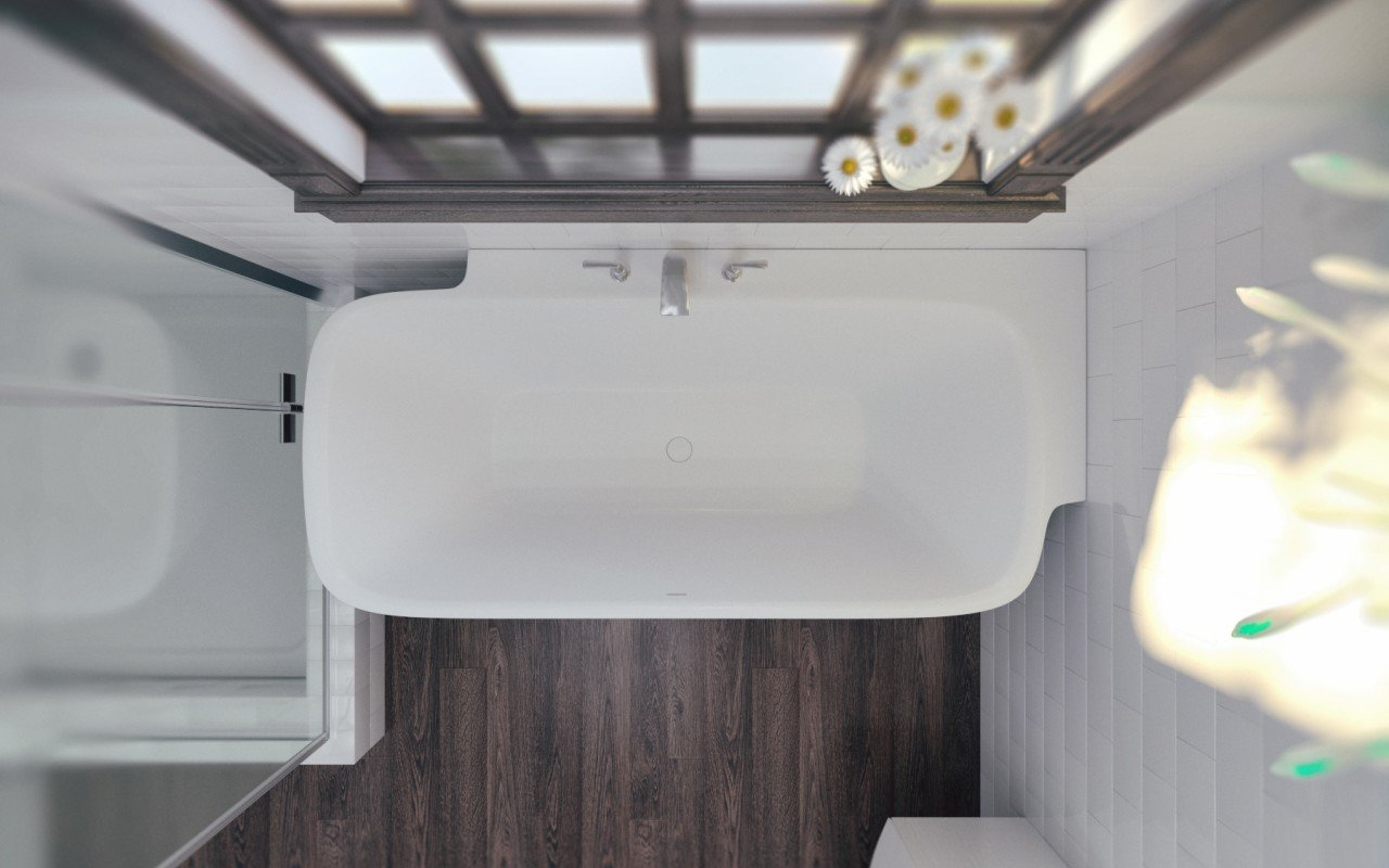 Arabella L Wht Corner Solid Surface Bathtub (2)
