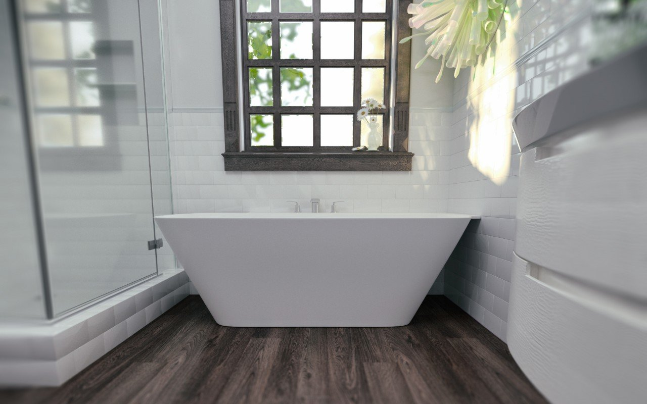 Arabella L Wht Corner Solid Surface Bathtub (4)