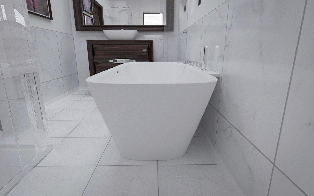 Arabella Wall Stone Bathtub 3D 4