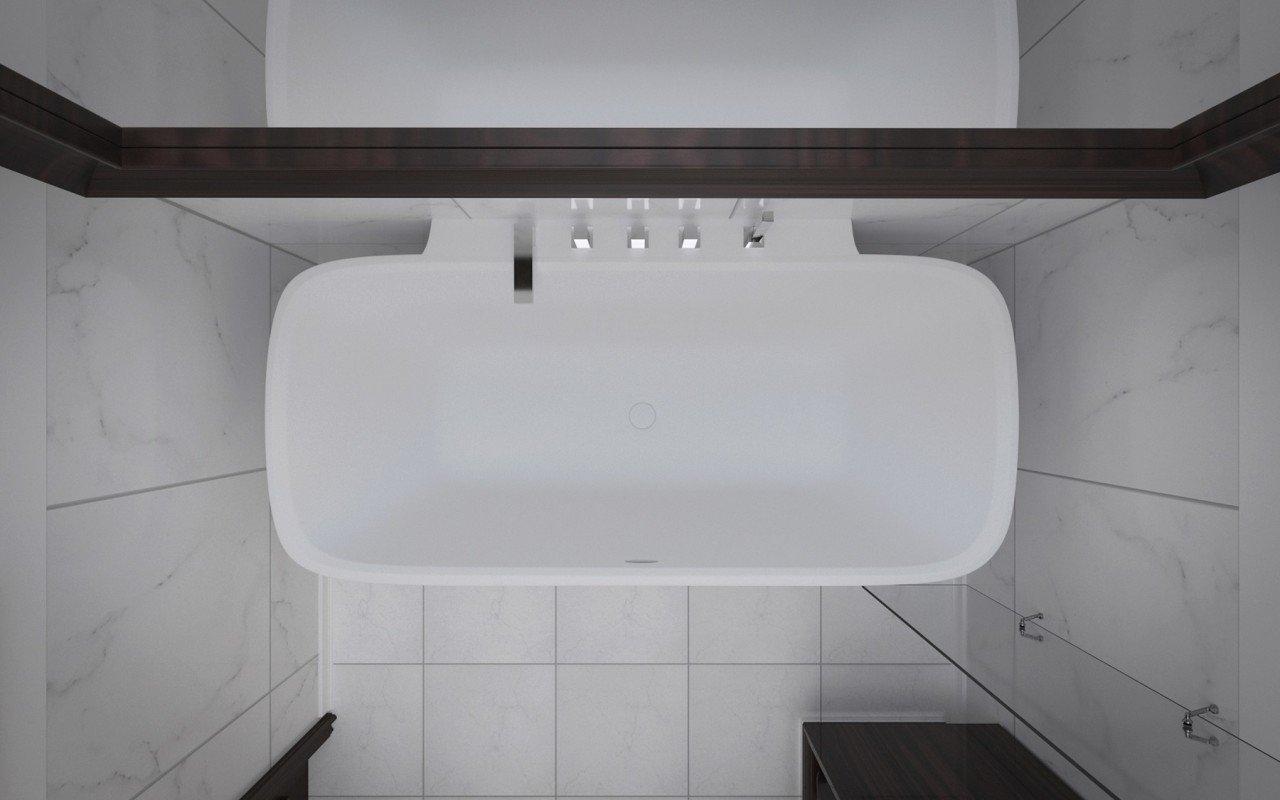 Arabella Wall Stone Bathtub 3D 6