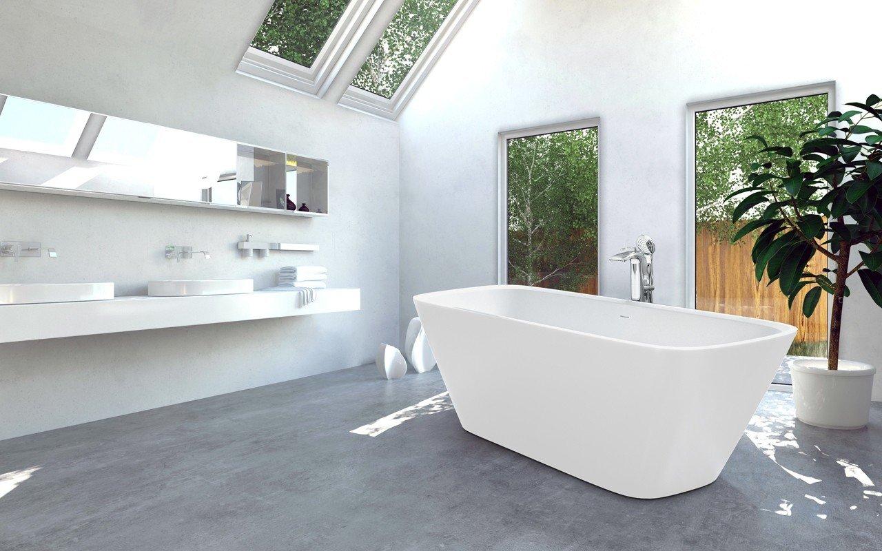 Arabella Wht Freestanding Solid Sureface Bathtub web (3)