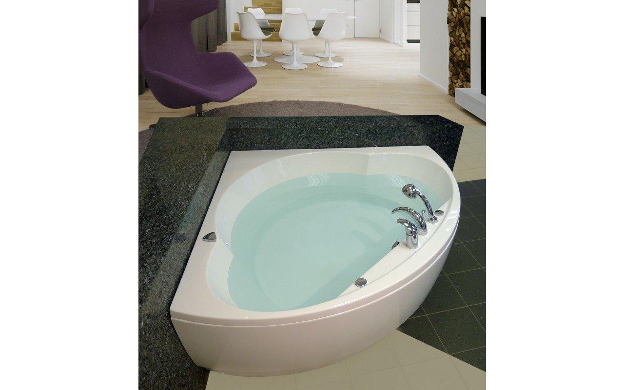 Cleopatra Corner Acrylic Bathtub by Aquatica web 3