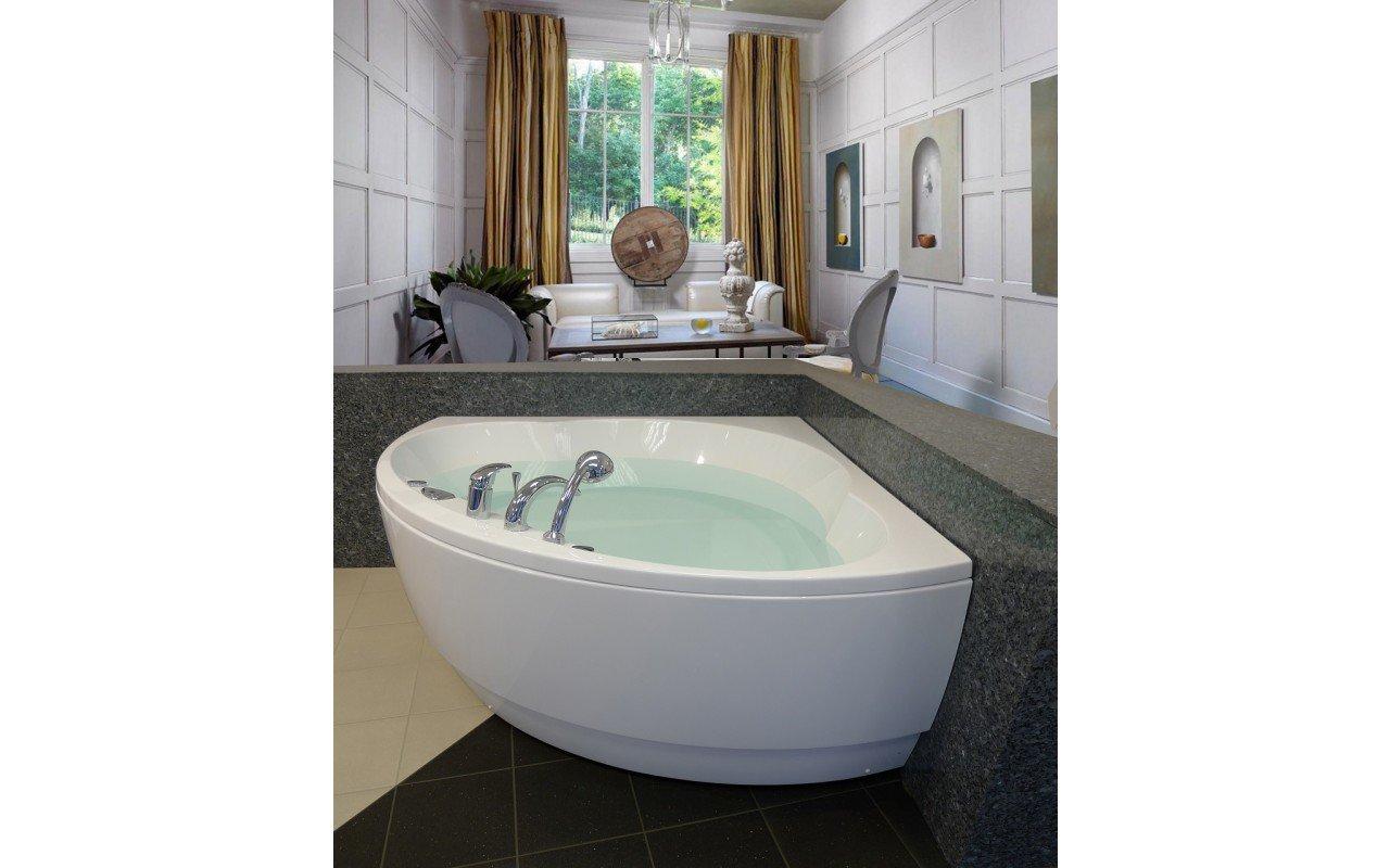 Cleopatra Corner Acrylic Bathtub by Aquatica web 4