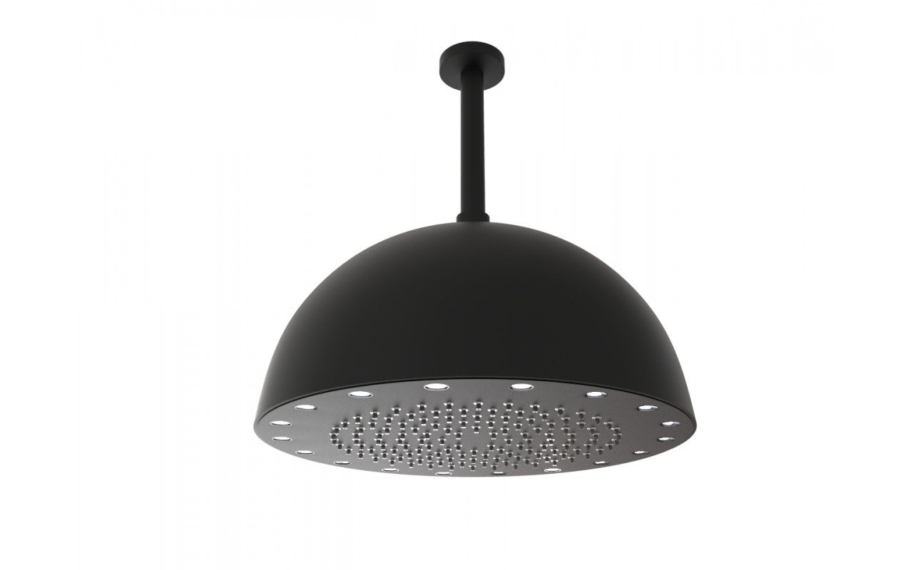 Dynamo Dynamic LED Round Shower Head Black Matte 4