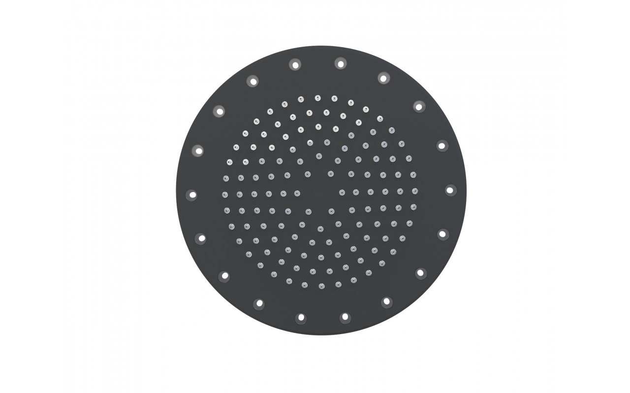 Dynamo Dynamic LED Round Shower Head Black Matte 5