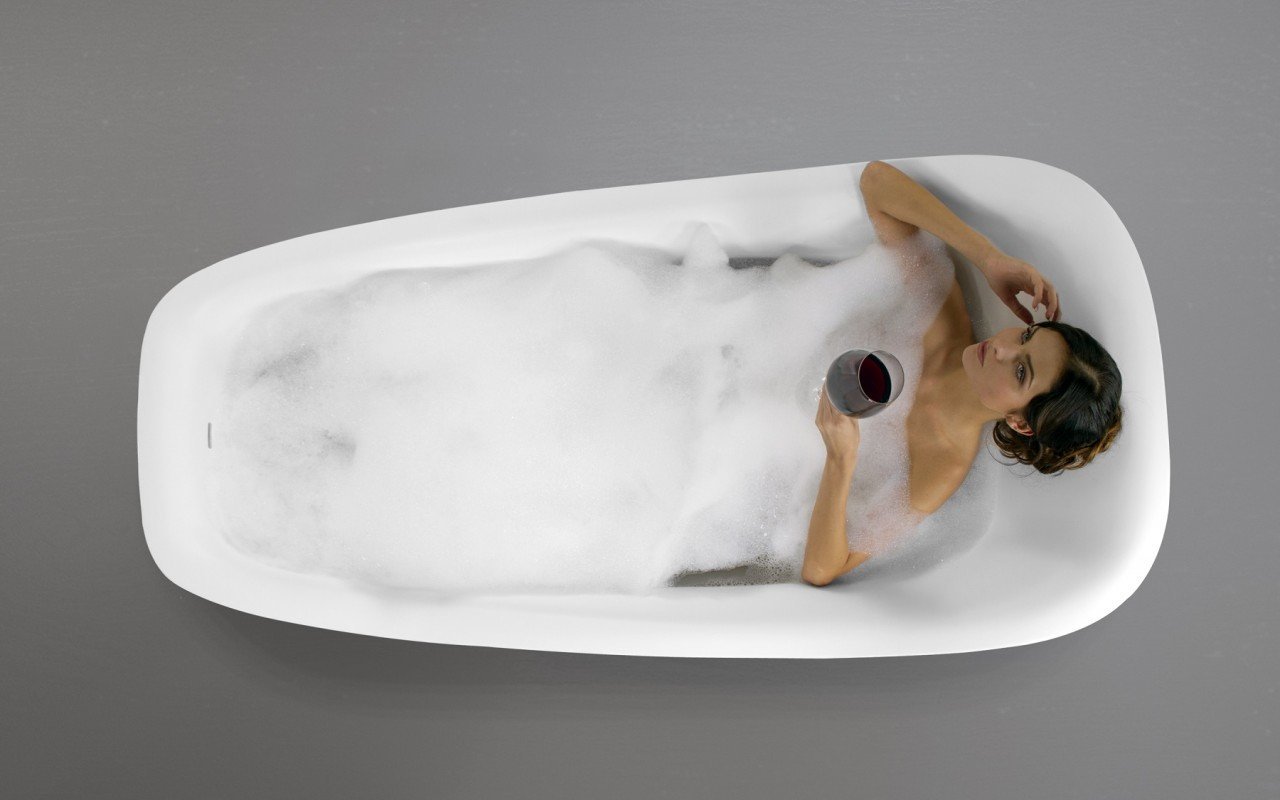 Emma Wht Freestanding Stone Bathtub Top View web