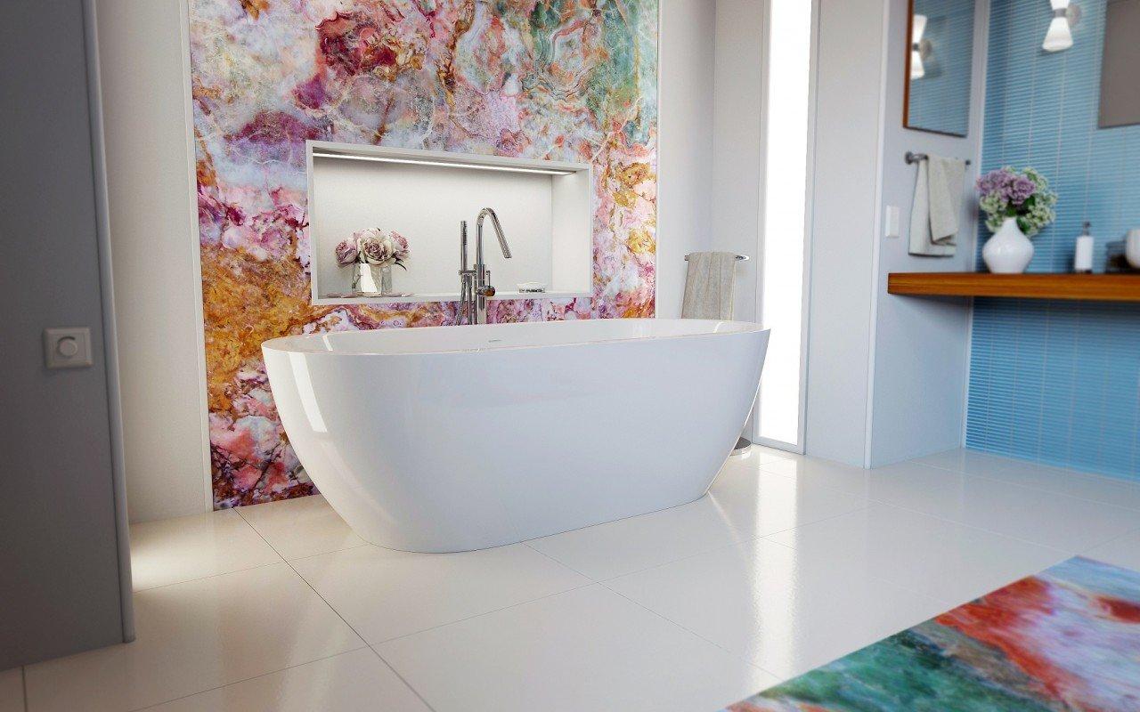 Gloria Wht Freestanding Acrylic Bathtub 3 web