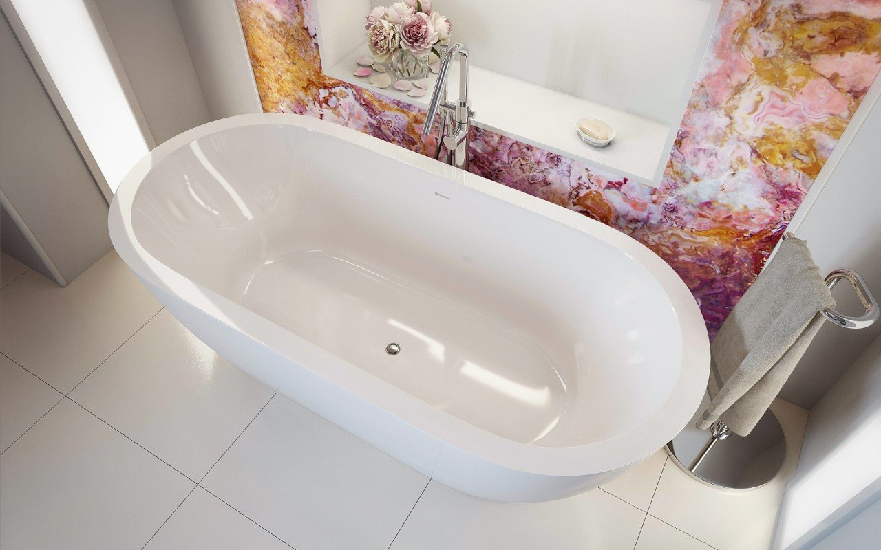 Gloria Wht Freestanding Acrylic Bathtub 7 web
