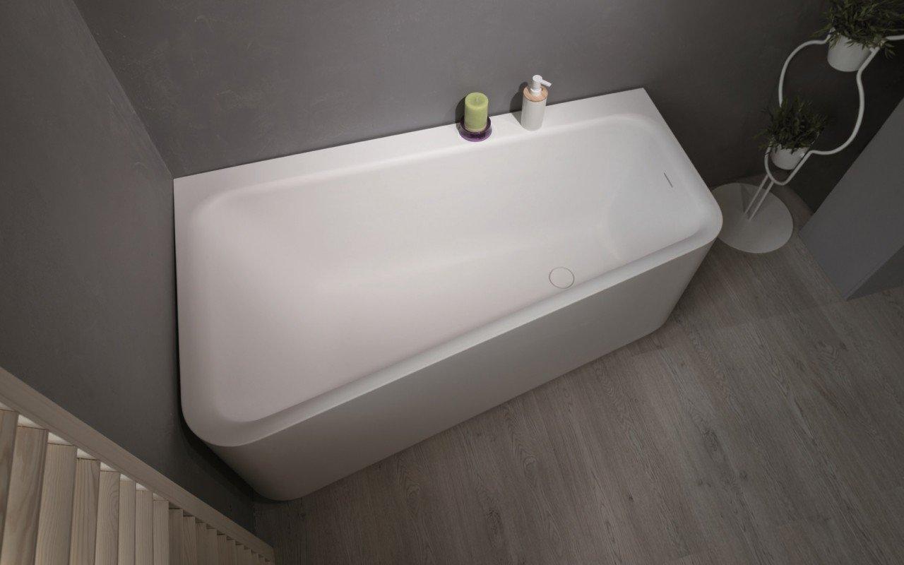 Jane Wht Stone Corner Bathtub 1