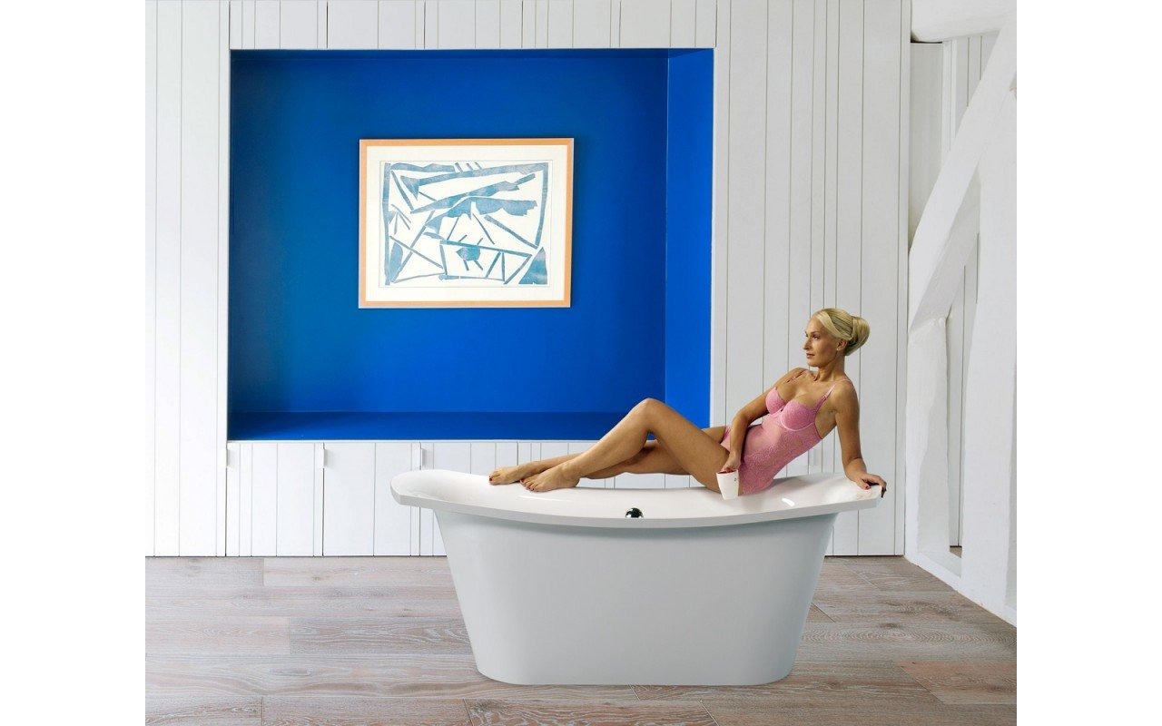 Aquatica LoveMe-Wht™ Freestanding Cast Stone Bathtub