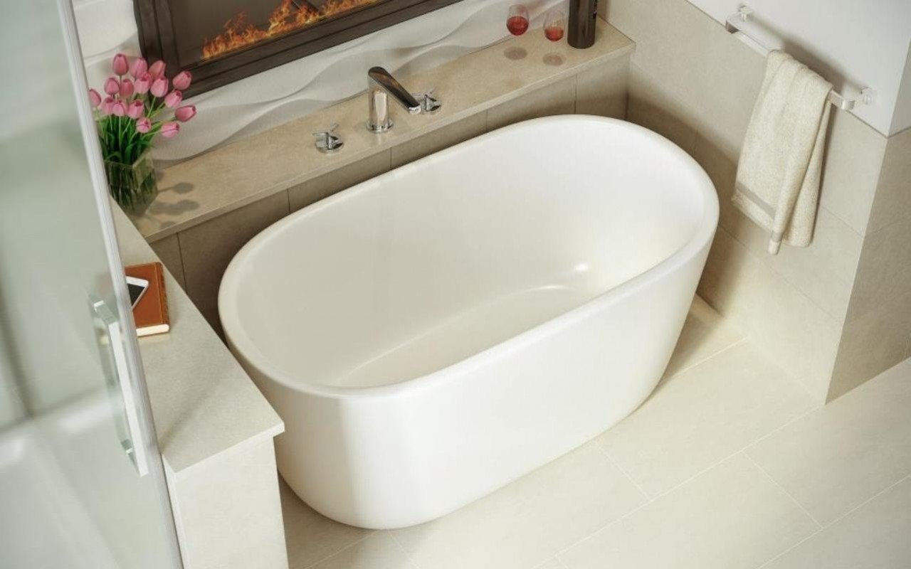 ... Aquatica Lullaby Nano Wht Small Freestanding Solid Surface Bathtub ...
