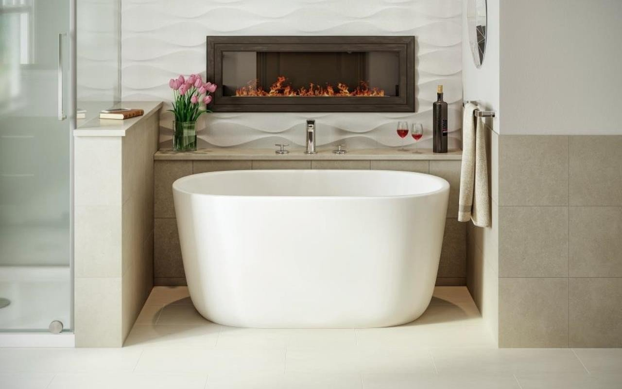 Aquatica lullaby nano wht small freestanding solid surface bathtub - Vasche da bagno mini ...
