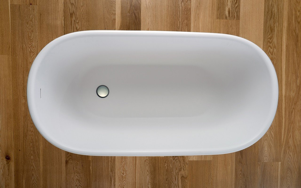 Lullaby Wht Small Freestanding Solid Surface Bathtub by Aquatica web 0009