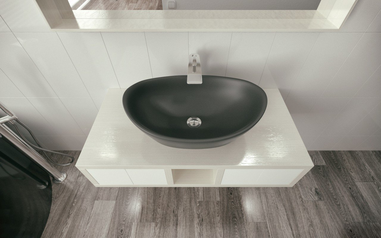 Luna Black Stone Lavatory by Aquatica (2)