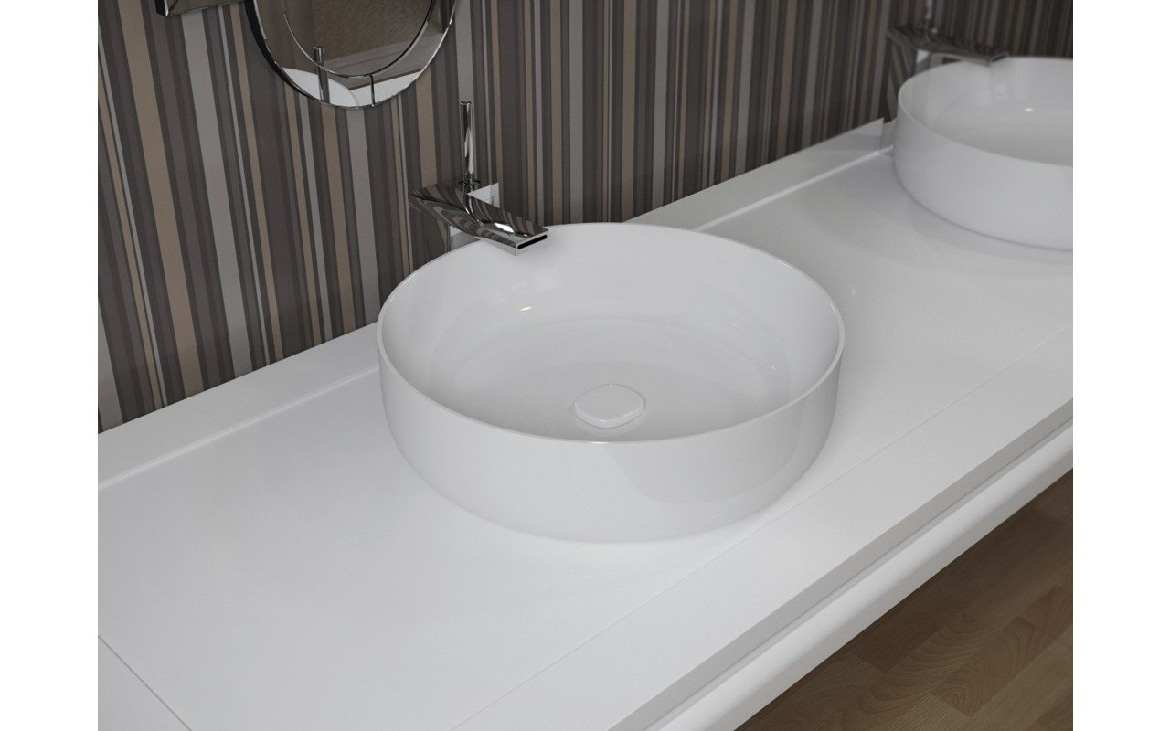 Bathroom Sinks Round aquatica metamorfosi-wht round ceramic bathroom vessel sink
