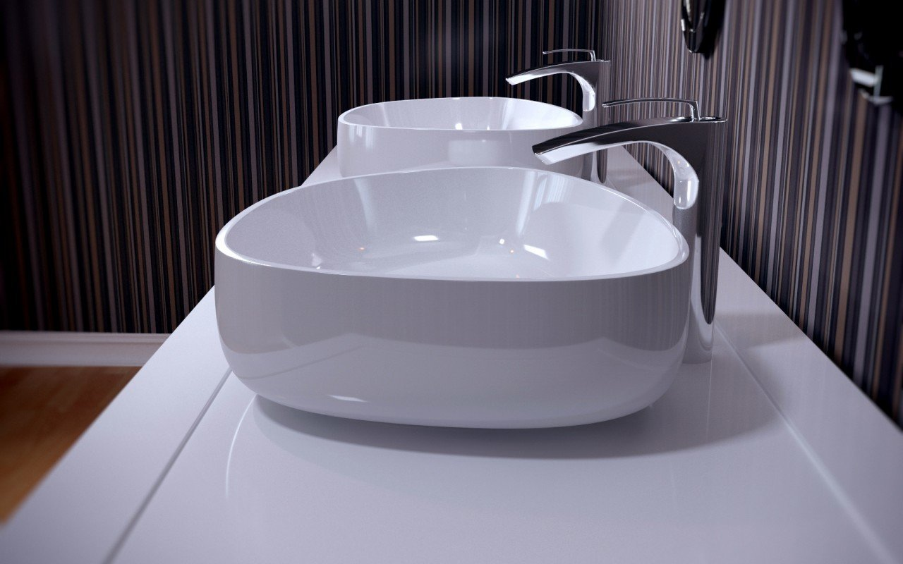 Metamorfosi Wht Shapeless Ceramic Bathroom Vessel Sink (1)