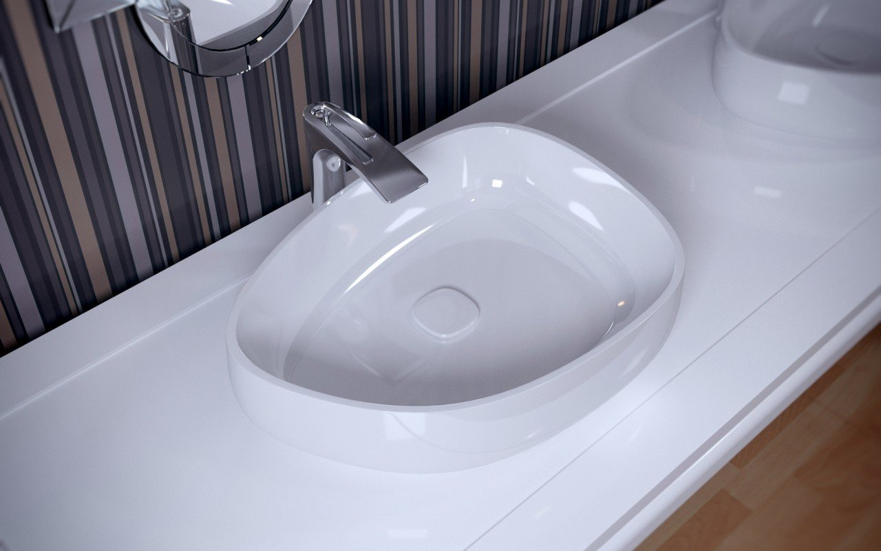 Metamorfosi Wht Shapeless Ceramic Bathroom Vessel Sink (2)