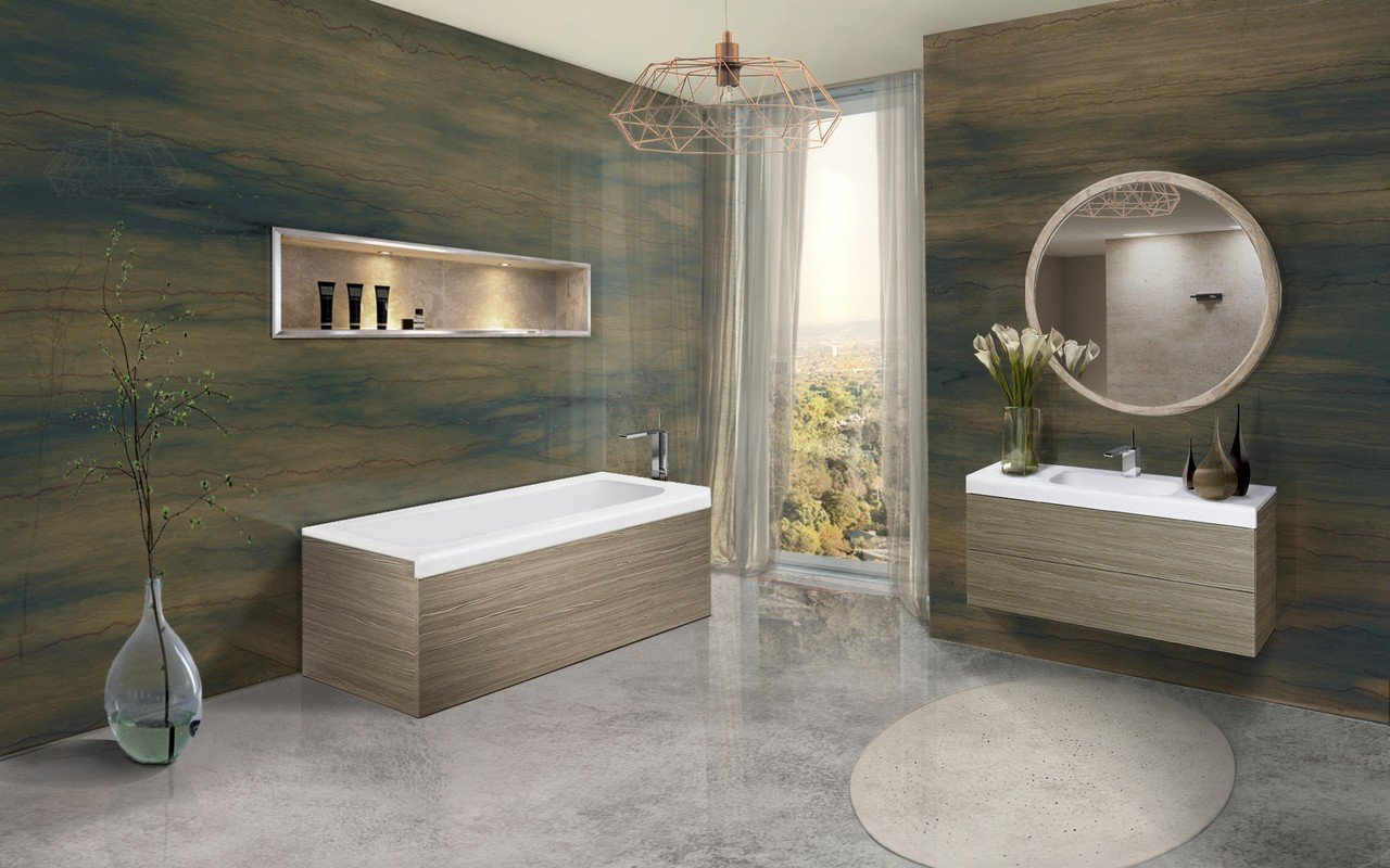 Pure 1l by aquatica back to wall stone bathtub with light decorative wooden side panels 02 (web)