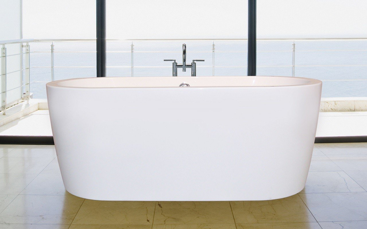 PureScape 014 Freestanding Acrylic Bathtub by Aquatica web 1