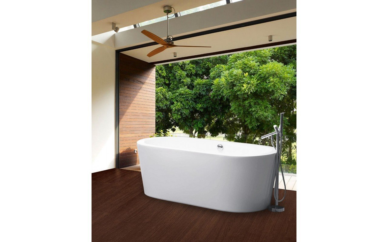 PureScape 014 Freestanding Acrylic Bathtub by Aquatica web 7