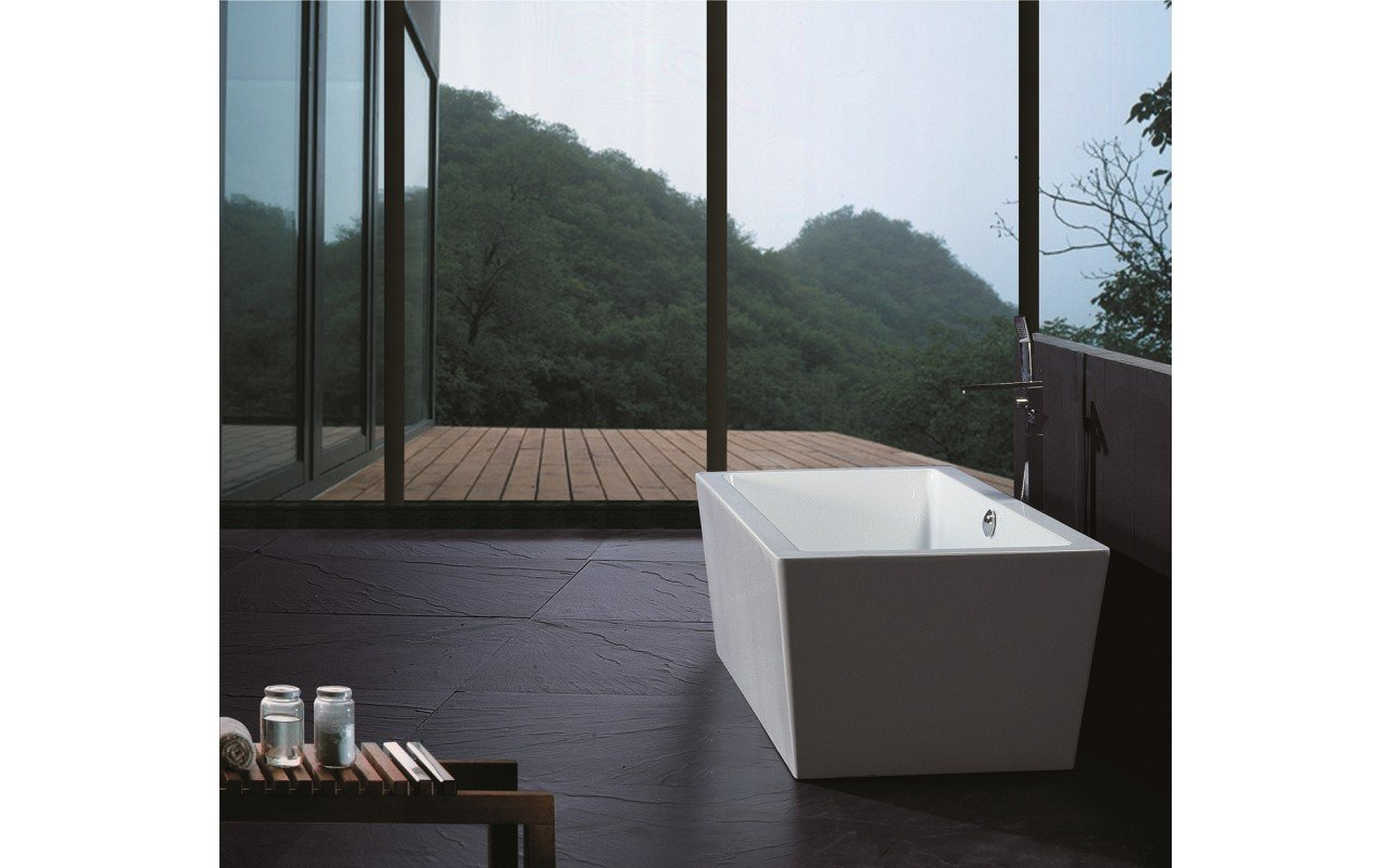 PureScape 026 Freestanding Acrylic Bathtub by Aquatica web 1
