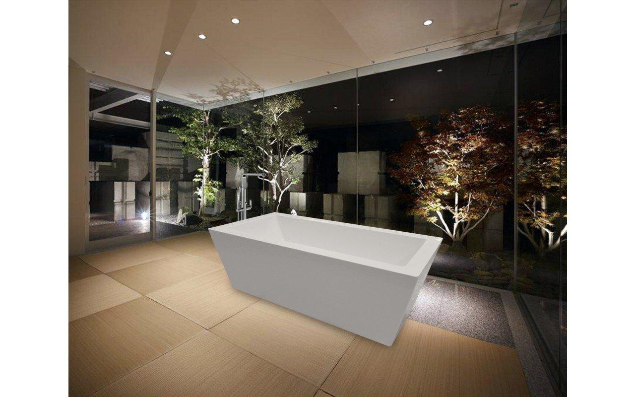 PureScape 026 Freestanding Acrylic Bathtub by Aquatica web 8