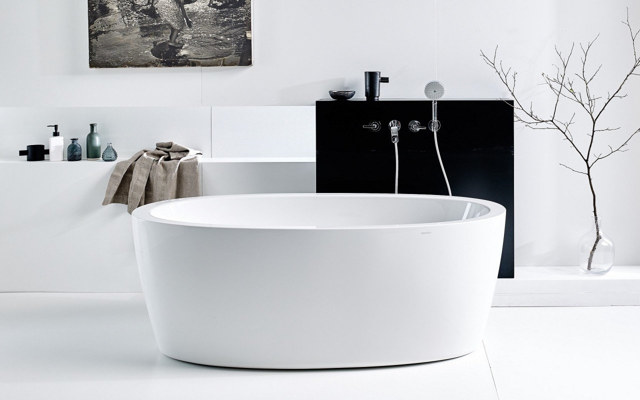 Purescape 174a Wht Freestanding Acrylic Bathtub Web