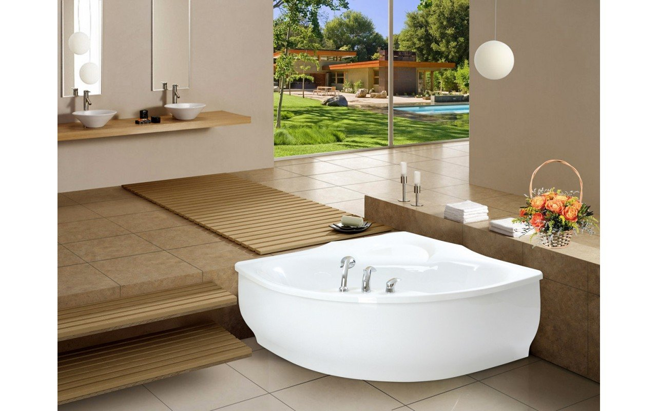 PureScape 314 Corner Acrylic Bathtub by Aquatica web 5