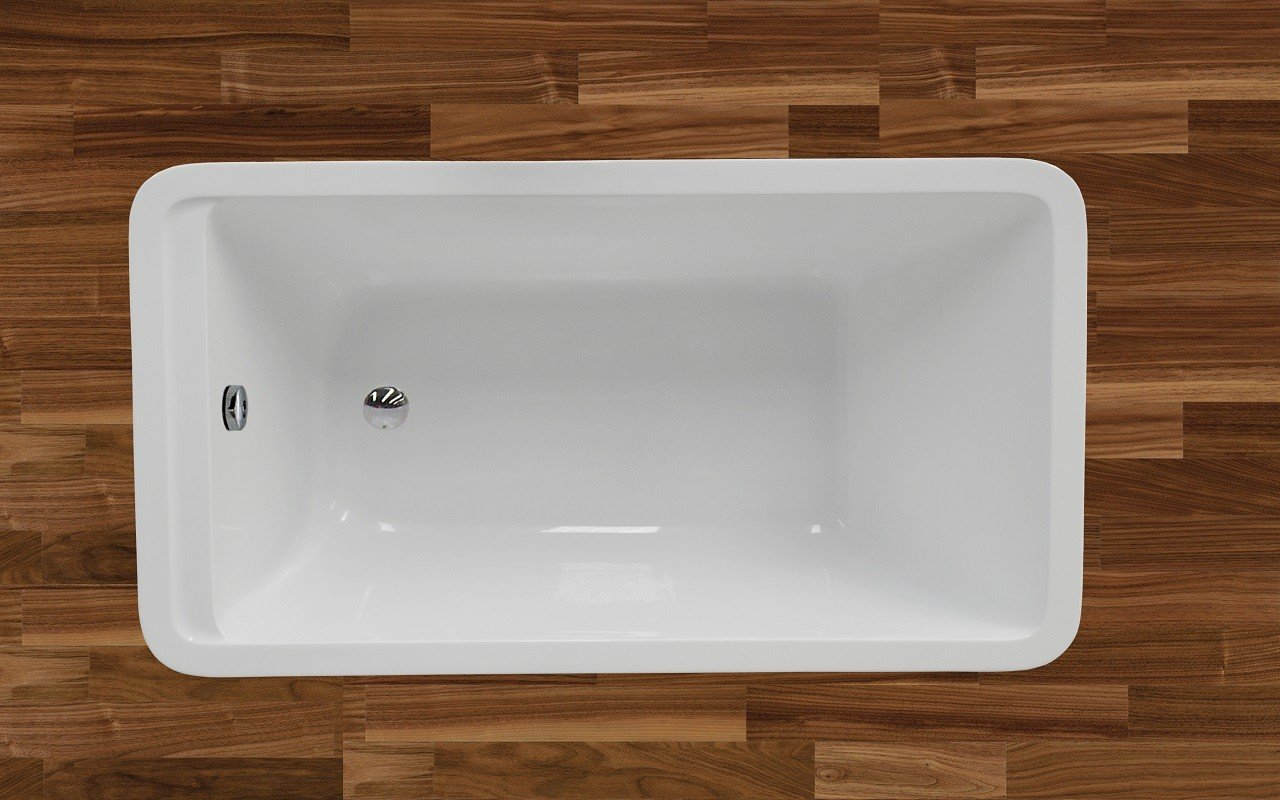 PureScape 327 Freestanding Acrylic Bathtub by Aquatica web 5