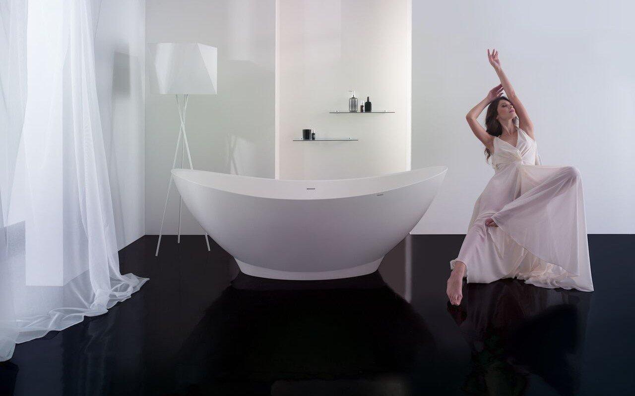 PureScape 621 Freestanding EcoMarmor Bathtub 10 web