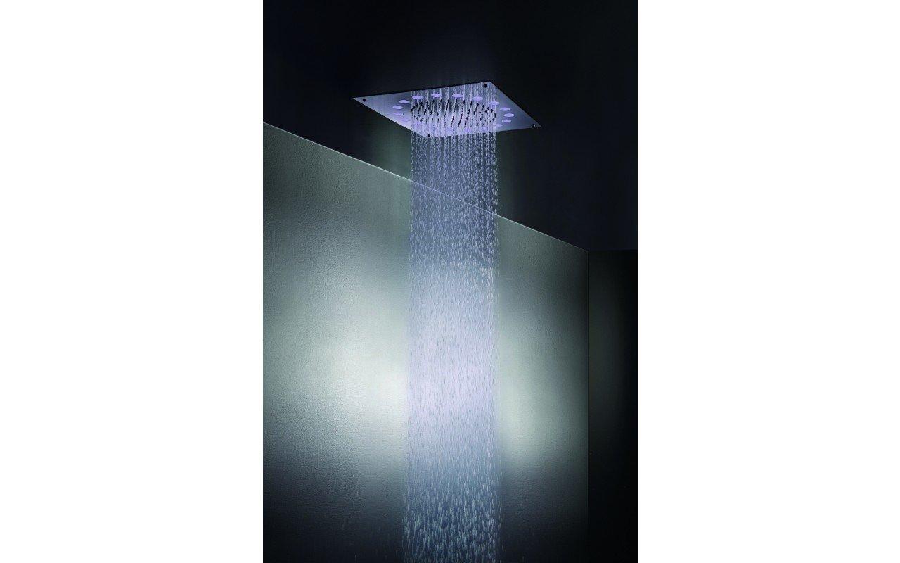 Rainbow Dynamic LED Ceiling Shower Head Chrome MAIN