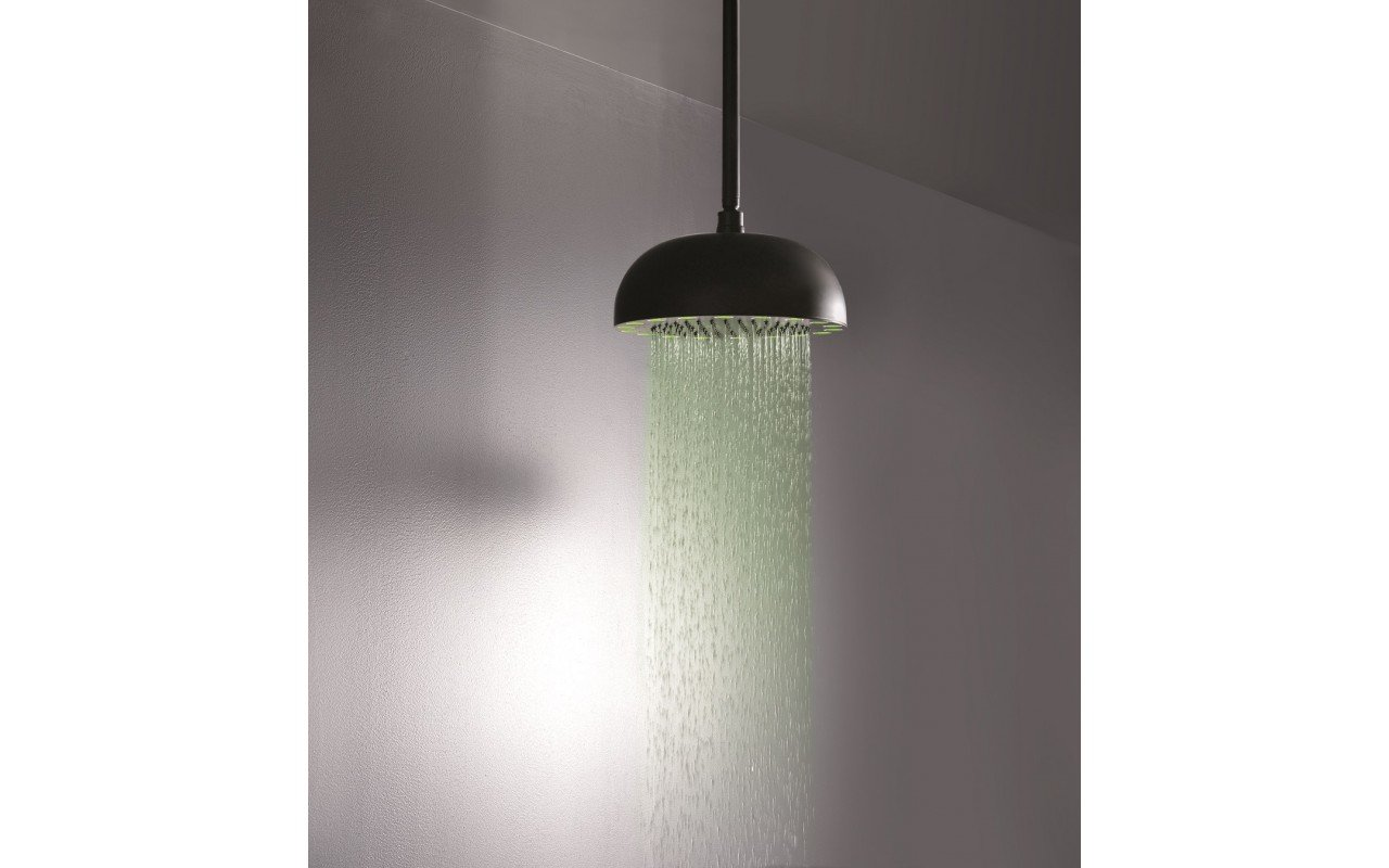 Rainbow Dynamic LED Round Shower Head Black Matte 4 web