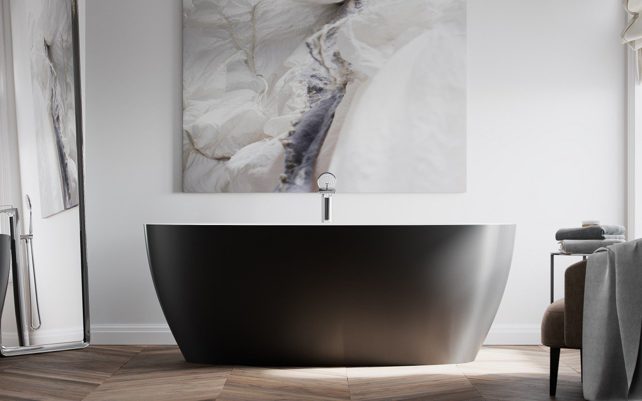 Sensuality Back wht freestanding oval solid surface bathtub by Aquatica (6) Copy
