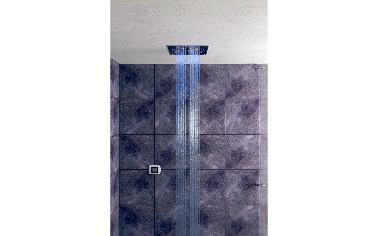 Spectrum Moonlight Square Shower Head Blue light 1 1