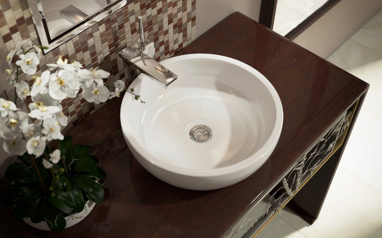 Bathroom Sinks Round aquatica texture bowl-wht round ceramic bathroom vessel sink