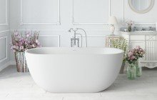 Corelia wht purescape 617bm freestanding solid surface bathtub by Aquatica 01 (web)