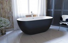 Corelia Black Wht Freestanding Stone Bathtub (1)