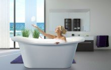 LoveMe White Stone Bathtub 1200 1800