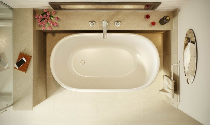 Lullaby Nano Wht Small Freestanding Solid Surface Bathtub by Aquatica web (3)