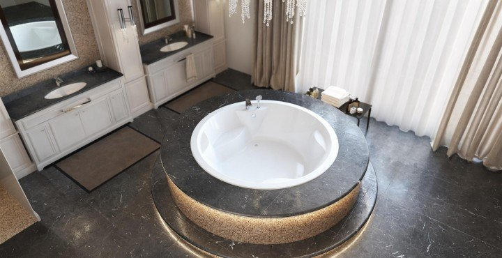 luxury drop in and built in bathtubs crafted of award winning materials. Black Bedroom Furniture Sets. Home Design Ideas