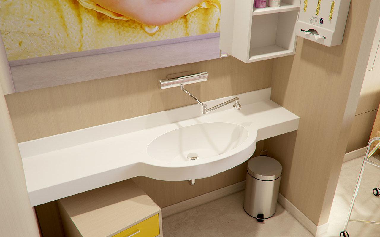 Aquatica Albi Baby Stone Bathroom Sink