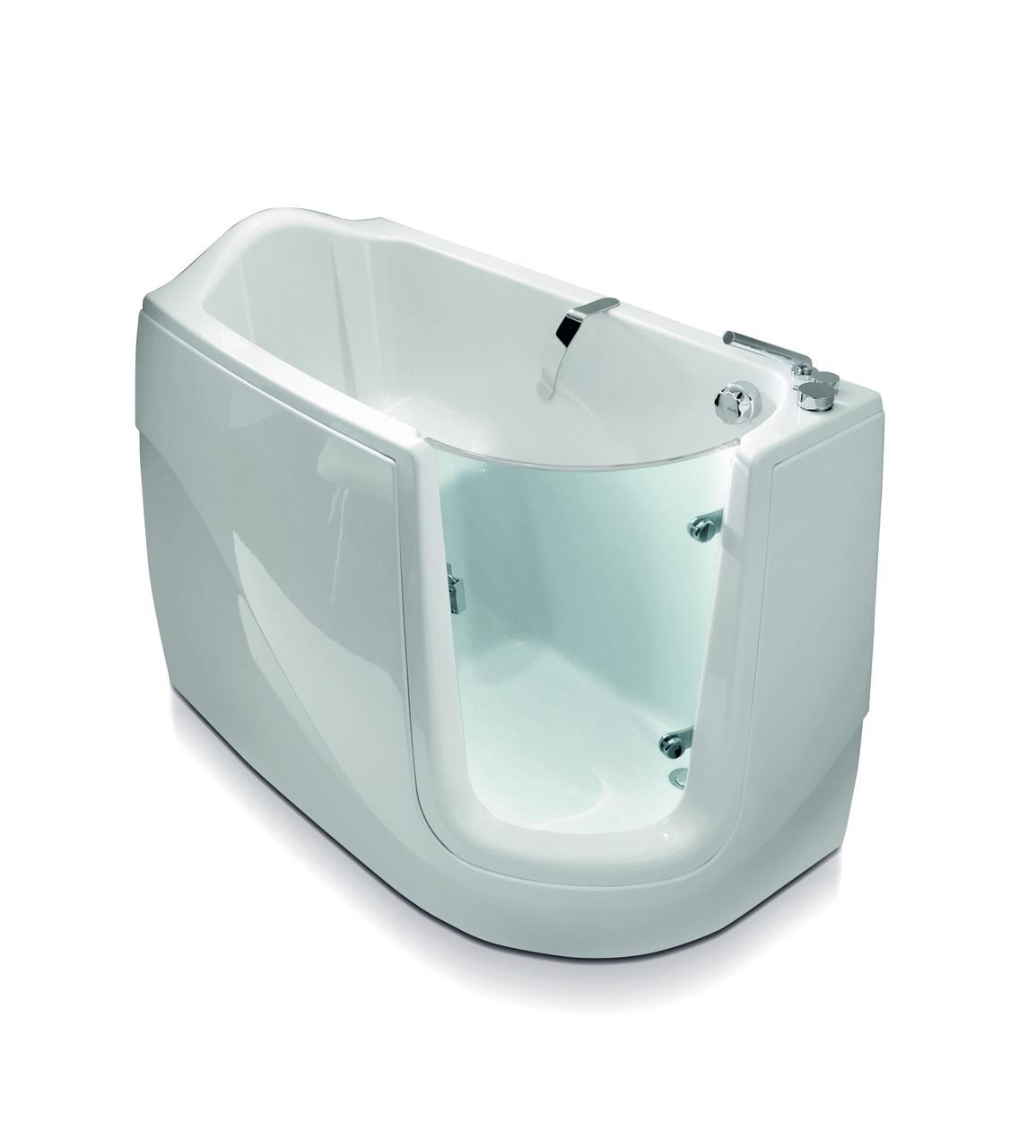 Aquatica Baby-Boomer-R™ Corner Soaking Walk-In Bathtub